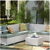 2017 Trade Assurance Most Popular aluminium frame rattan space saving sofa set furniture