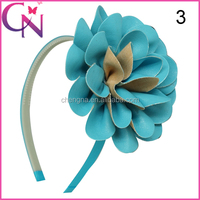 Free Shipping Leather Headband With Bows CNHB-14120701-2W