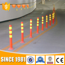 2017 China products PU Traffic Delineator safety flexible post warning post