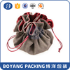 gift velvet bag drawstring pouch brown