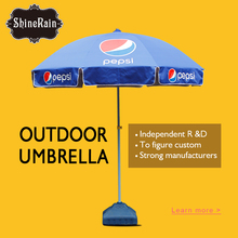 pepsi sun outdoor beach umbrella custom print logo the dome promotional parasol umbrella base chinese supplier imports wholesale