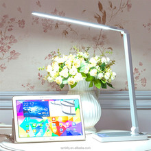 8W SMD Touch Dimmable Desk Reading Light Manicure Color Changing LED Table Lamp With Rubber Flexible Arm