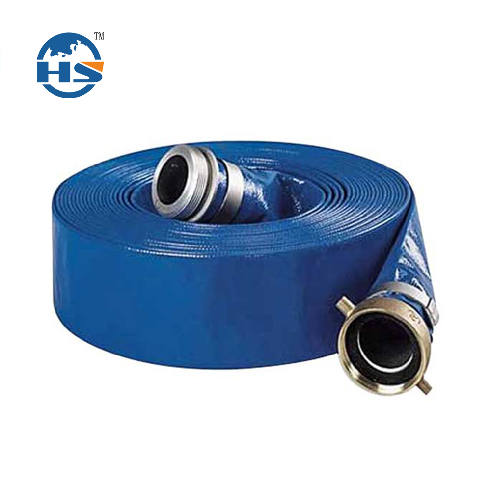 102mm Blue PVC Layflat Hose Water discharge pump irrigation
