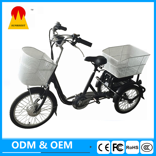 Tricycle motorcycle electric three wheeler electric scooter for handicapped on sale