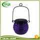 Home Solar System Wholesale Craft Purple Glass Solar Led Light Garden Outdoor Lamp