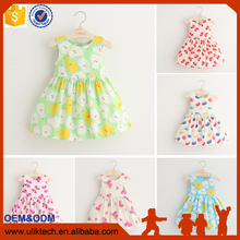 Factory supply 2016 new designs baby girls clothes cheapest summer dress lovely baby girls dress hot selling on taobao shop
