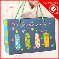 Colorful party packing wedding paper hand bag