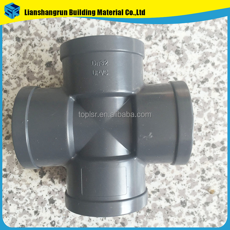 plumbing materials pvc cross joint pipe fittings
