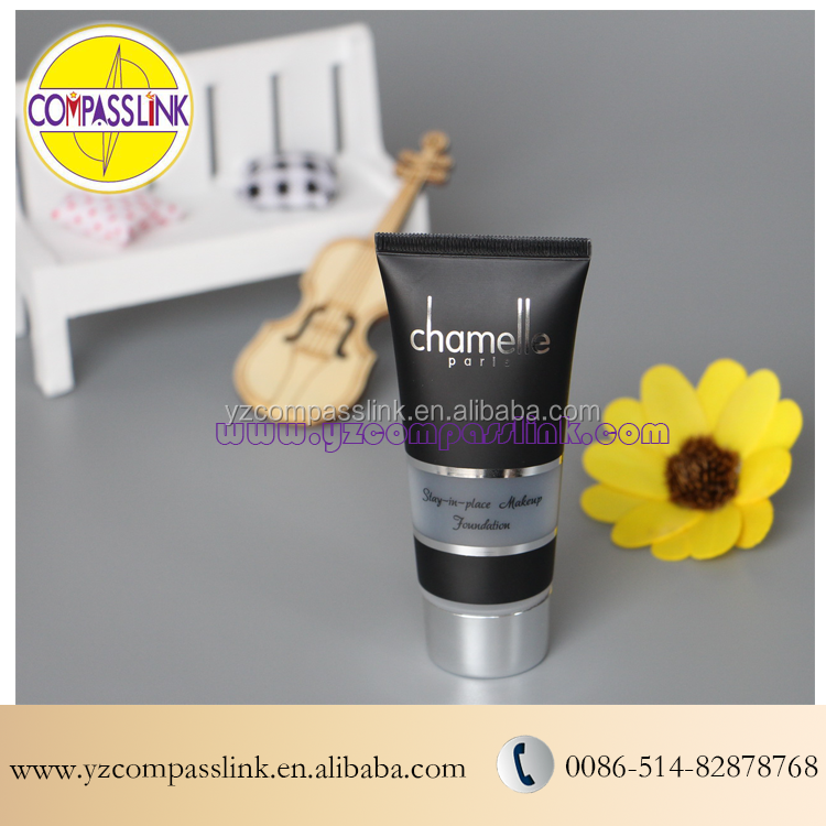 Yangzhou supplier bpa free cosmetic plastic aluminum packaging tube 200ml with screw cap
