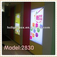 led slim aluminum screen printing product photography light box
