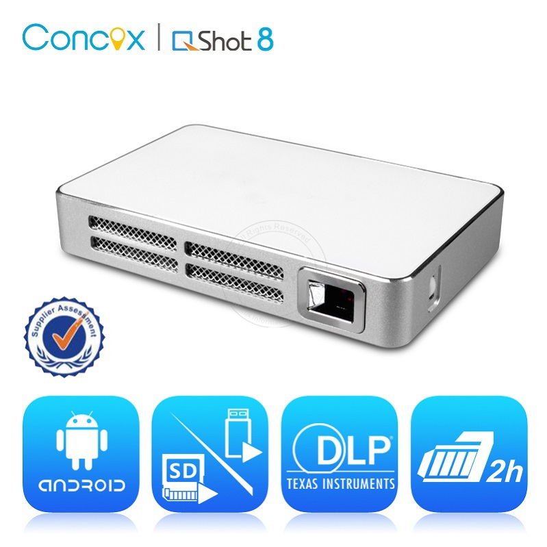 JIMI Q Shot8 Multimedia MINI Projector educational equipment with built-in battery