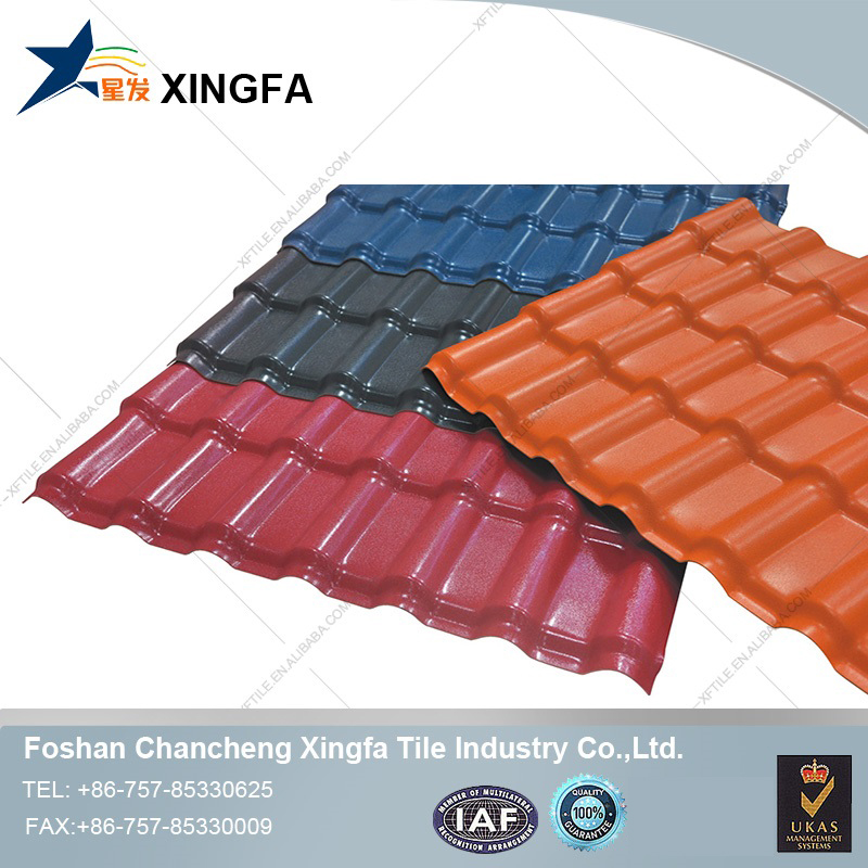 Competitive price ASA coated spanish terracotta plastic synthetic resin roof tile