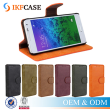 Frosted PU Leather + PC Mobile Flip Cover Case For Samsung Galaxy Alpha G850