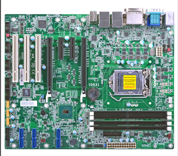 ATX motherboard/mainboards with LGA1151, DDR4, RS-232/422/485, SATA and LVDS