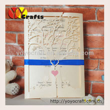 hot sale wedding favor wedding invitation letter providers