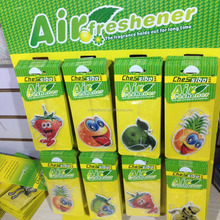 customized logo scents air freshener brands wholesale hanging paper car air freshener/fruit shape