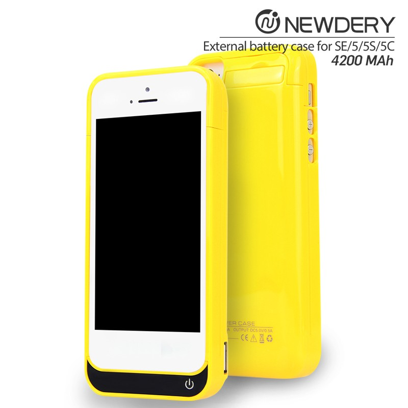 2016 Charging Back Juice Pack Battery Case With Kickstand Power Bank Case Designed For iPhone 5/5s/5c/SE