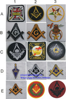 Promotion fashion gift Cheap Handmade masonic patches embroidery