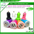 China wholesale dual usb car charger, 2.1a car charger for pad, Multipurpose Colorful Dual USB Car Charger for Pad and Smart