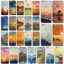 Stunning Senery Painted Soft TPU For Apple iPhone 5 5S Mobile Phone Back Skin Cases Cover