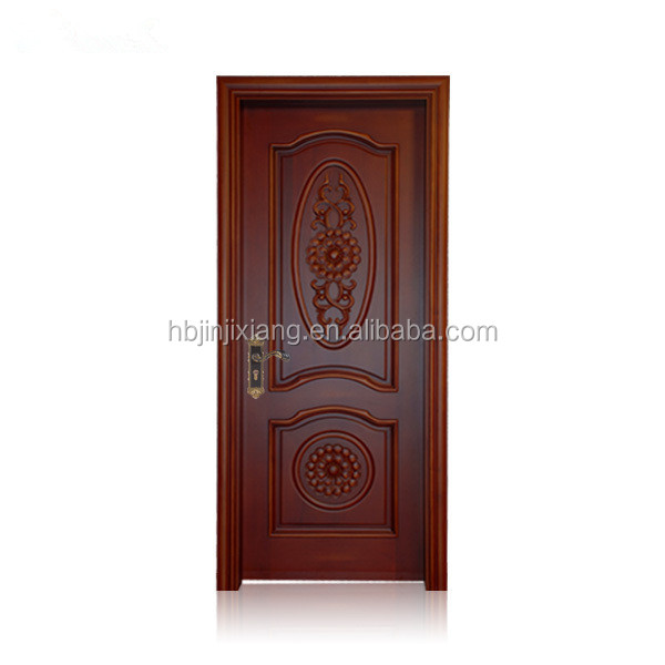 2 panel Traditional Style Solid Wood Door