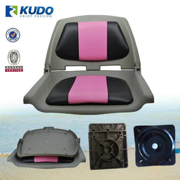 Universal For Inflatable / Racing Boats Plastic Folding Boat Seat With Swivel Base