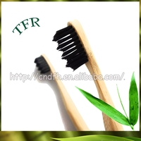 ECO-friendly soft bristle bamboo finger toothbrush for adults