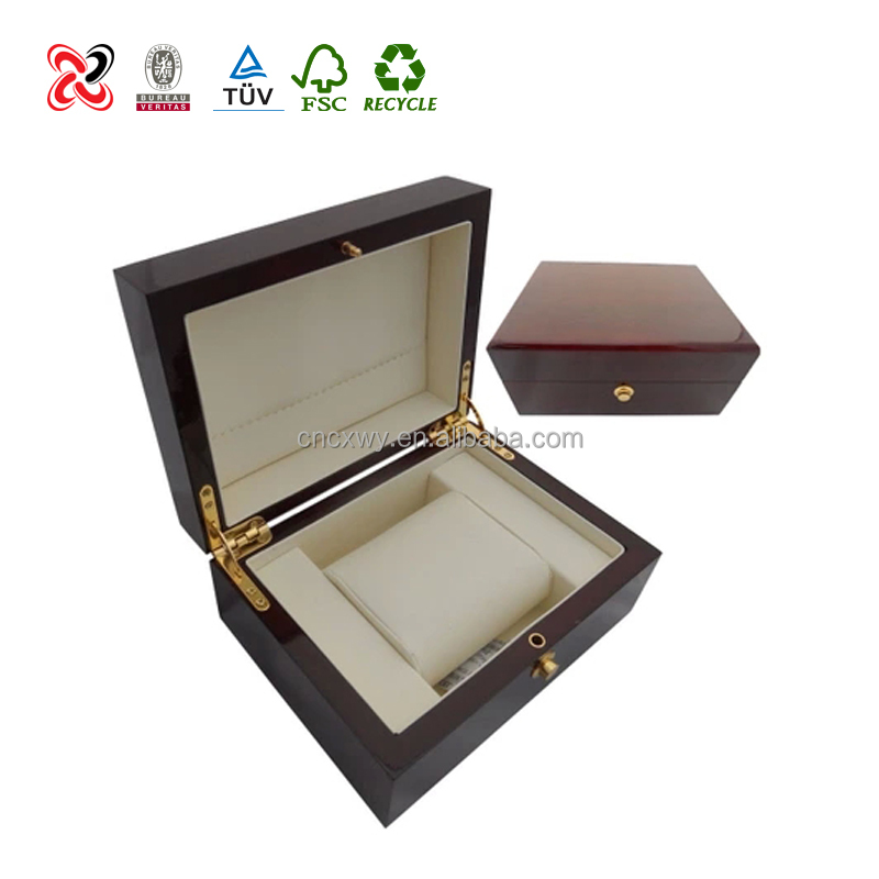 Portable Mens Wooden Watch Windering Box/ Top-end MDF Watch Gift Packaging Box