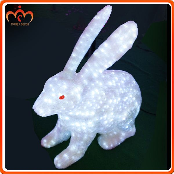 H:106cm,W;106cm hand made bunny led lighting acrylic christmas ornaments