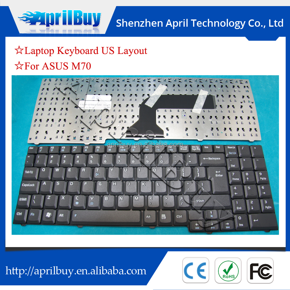 US computer keyboard for Asus M70