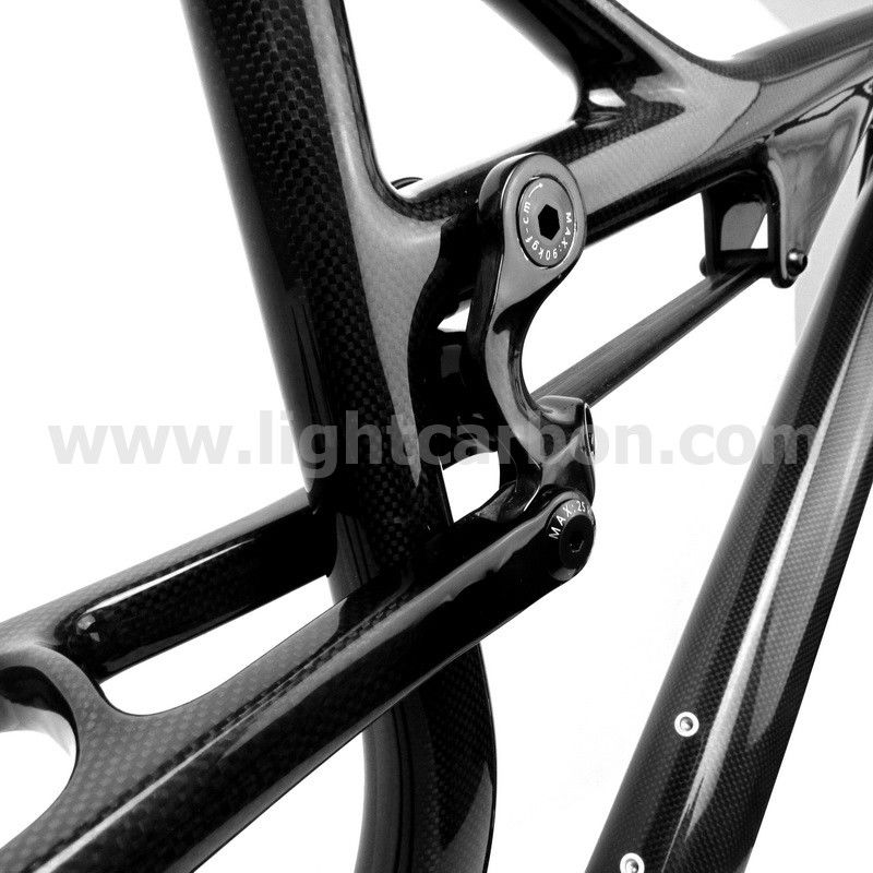 LIGHTCARBON dual suspension MTB T700 full carbon 29er mountain bike frame with BSA/BB30 DS069