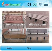 Wood Plastic composite wpc outdoor leisure product/plastic chair/wooden bench