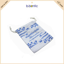 fashion blue canvas drawstring pouch for gift bag