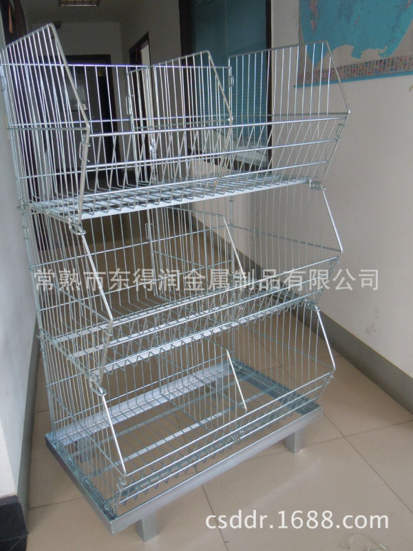 Folding and Stackable Wire Stacking Metal Cage with Wheels from China