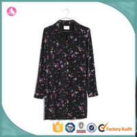 Woman Chiffon Floral Latest Colorful Evening Blouse Dress