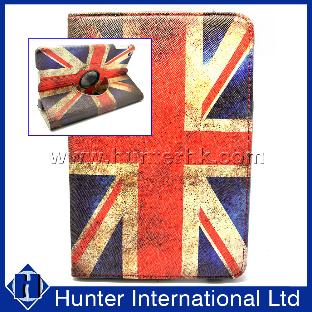 Distressed Union Jack Rotating Case For iPad Mini 4