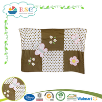 Baby cot flower printed bedding comforter sets