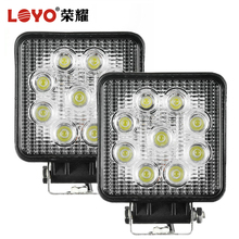 Chinese wholesale 27W led work light , IP67 12v/24v led worklight for 4x4 offroad trucks