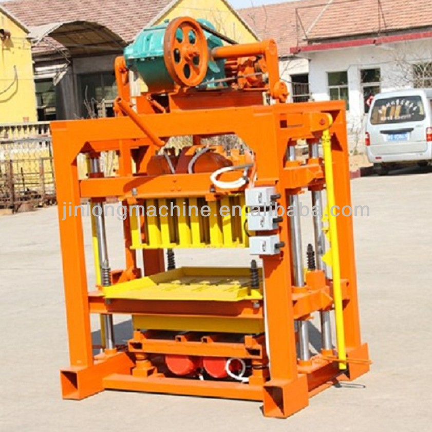 QT4-40 fly ash brick making machine price,FOR family or small factory to do business!from china