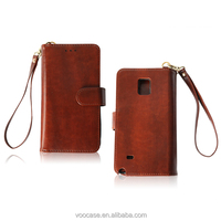 Voocase leather cell phone case PU leather wallet phone bag for Samsung Note4