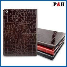 2015 Protective Crocodile leather case for ipad air case for ipad 5 with manufacture promotion price