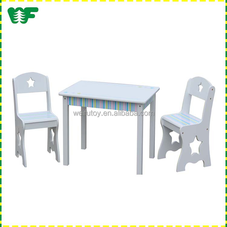New design wooden children kids study table chair set