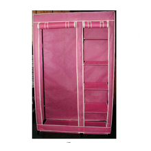 Non-woven folding portable wardrobe/wardrobe /closet/canvas wardrobe