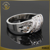 Wholesale eco-friendly AAA zircon diamond engagement ring silver 925 jewelry rhodium plated wedding ring
