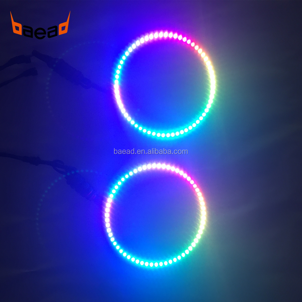 LED color changing angel eyes kit RGB halo rings 160mm for automobile