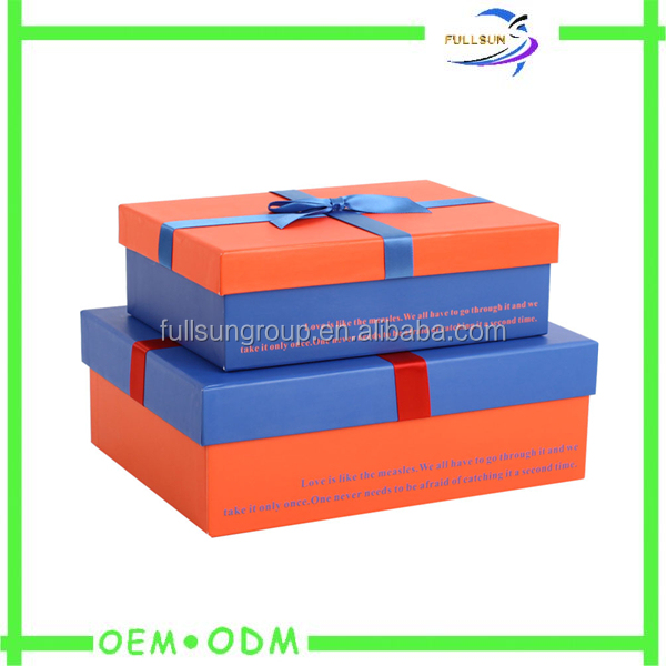 OEM custom unique style cardboard paper gift christmas gift boxes for packaging