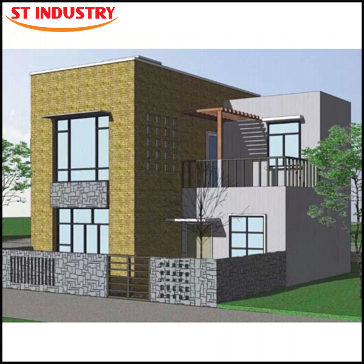 Light Steel Construction easy build and rebuild 70 square meter prefab house