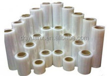 Free samples clear plastic pvc roll/transparent PE stretch film