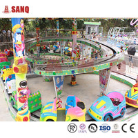SANQGROUP FACTORY Amusement Rides Train Mini Shuttle Convoy Rides , Shuttle Amusement Rides