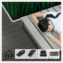 Cheap composite decking, tongue groove plastic decking, exterior wpc decking flooring